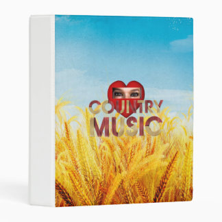 TEE I Love Country Music Mini Binder