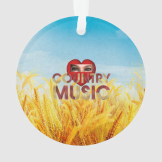 TEE I Love Country Music Ornament
