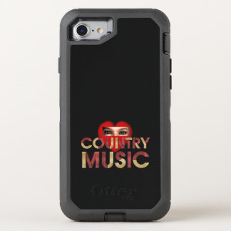 TEE I Love Country Music OtterBox Defender iPhone 7 Case