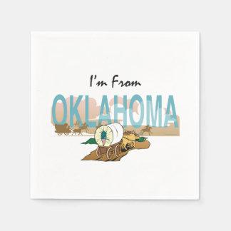 TEE I m from Oklahoma Paper Napkin
