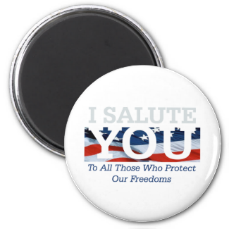 TEE I Salute You 2 Inch Round Magnet