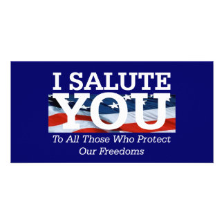 TEE I Salute You Picture Card