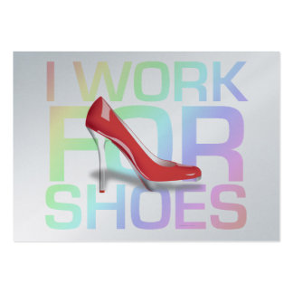 TEE I Work For Shoes Business Card