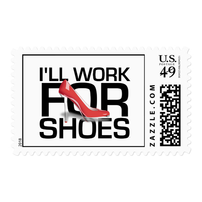 TEE I Work For Shoes Stamps