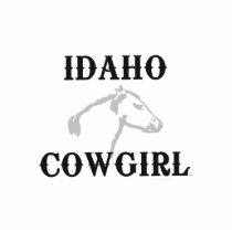 TEE Idaho Cowgirl Cutout