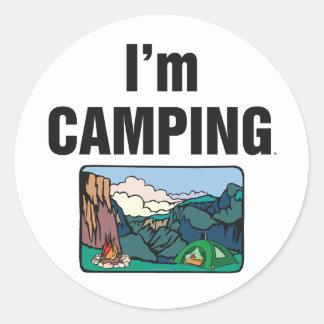 TEE I'm Camping Round Sticker