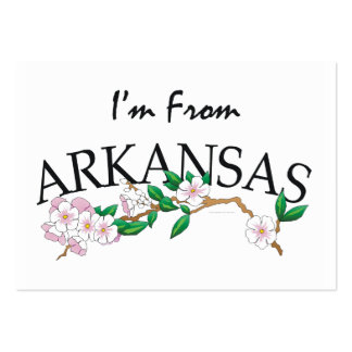 TEE I'm From Arkansas Large Business Card