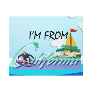 TEE I'm from California Canvas Print