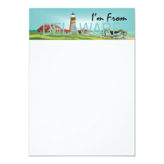TEE I'm from Delaware 5x7 Paper Invitation Card