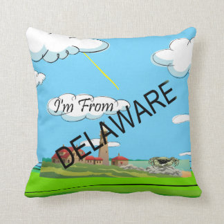 TEE I'm from Delaware Throw Pillow