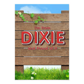 TEE I'm from Dixie Card