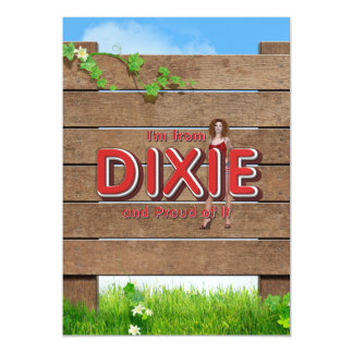 TEE I'm from Dixie Magnetic Card