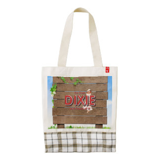 TEE I'm from Dixie Zazzle HEART Tote Bag