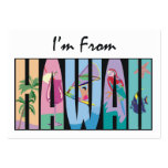 TEE I'm From Hawaii Large Business Cards (Pack Of 100)