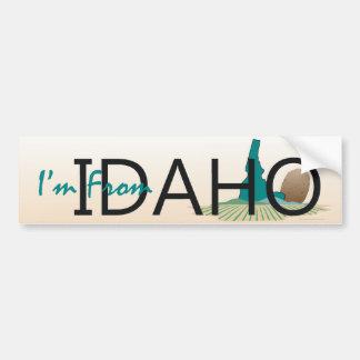 TEE I'm From Idaho Car Bumper Sticker