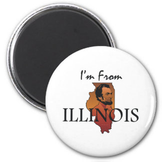 TEE I'm From Illinois 2 Inch Round Magnet