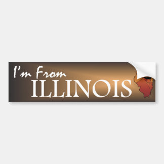 TEE I'm From Illinois Bumper Sticker