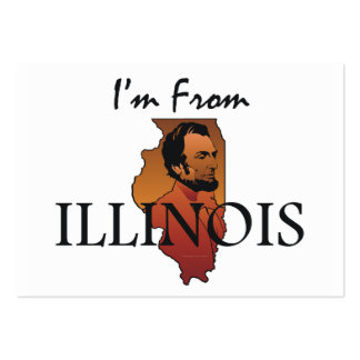 TEE I'm From Illinois Large Business Card