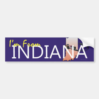 TEE I'm From Indiana Bumper Sticker