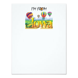 TEE I'm from Iowa 4.25x5.5 Paper Invitation Card
