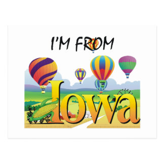 TEE I'm From Iowa Post Cards