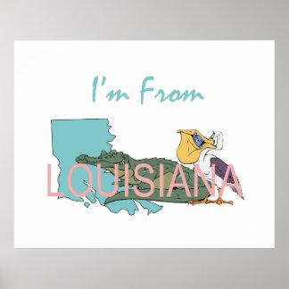 TEE I'm From Louisiana Poster