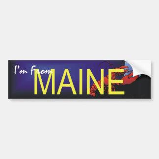 TEE I'm From Maine Car Bumper Sticker