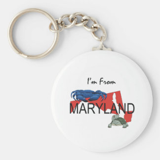 TEE I'm From Maryland Basic Round Button Keychain