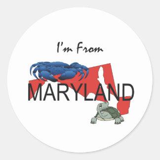 TEE I'm From Maryland Round Sticker