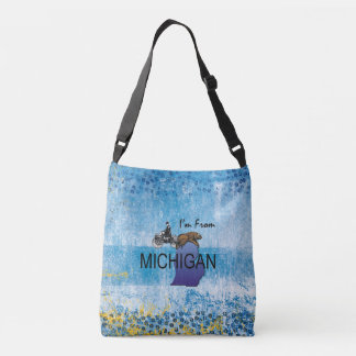 TEE I'm from Michigan Crossbody Bag