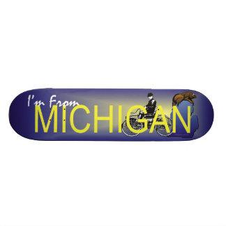 TEE I'm from Michigan Skateboard Deck