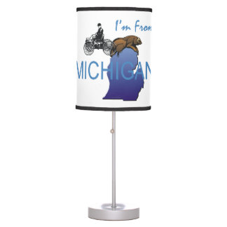 TEE I'm from Michigan Table Lamp