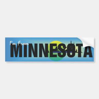 TEE I'm From Minnesota Bumper Sticker