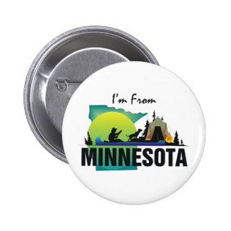 TEE I'm From Minnesota Pinback Buttons