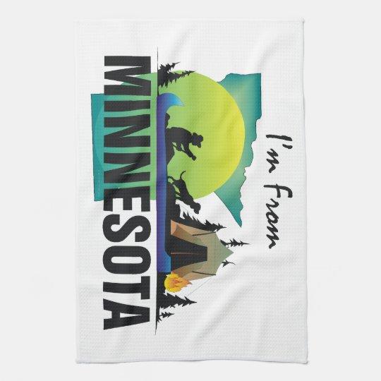 TEE I'm From Minnesota Kitchen Towel