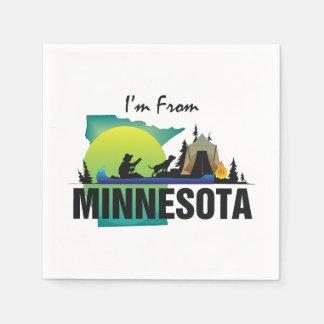 TEE I'm from Minnesota Paper Napkin