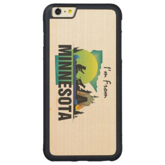 TEE I'm from Minnesota Carved® Maple iPhone 6 Plus Bumper