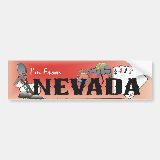 TEE I'm From Nevada Bumper Stickers