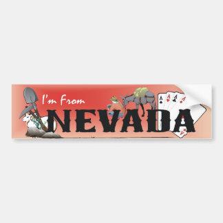 TEE I'm From Nevada Car Bumper Sticker