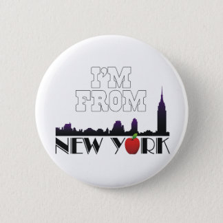 TEE I'm From New York Pinback Button