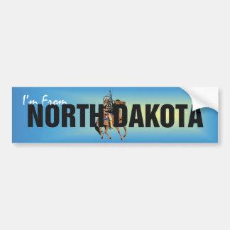 TEE I'm From North Dakota Bumper Sticker