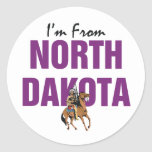 TEE I'm From North Dakota Round Sticker
