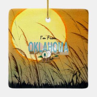 TEE I'm from Oklahoma Ceramic Ornament