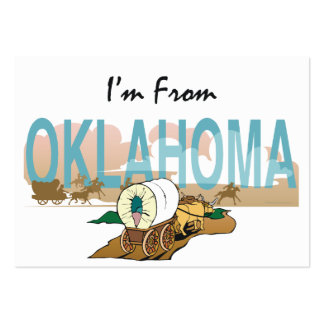 TEE I'm From Oklahoma Large Business Card