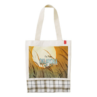 TEE I'm from Oklahoma Zazzle HEART Tote Bag