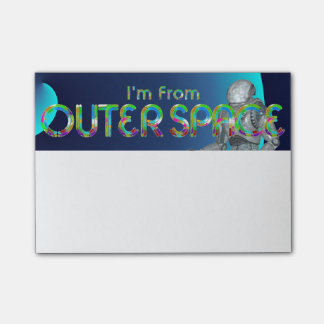 TEE I'm From Outer Space Post-it Notes