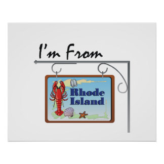 TEE I'm From Rhode Island Poster
