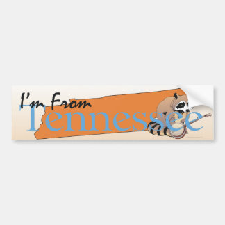 TEE I'm From Tennessee Car Bumper Sticker