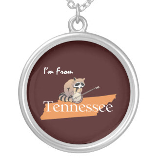 TEE I'm From Tennessee Round Pendant Necklace