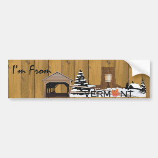 TEE I'm From Vermont Bumper Stickers